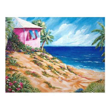MartinArtStudio Beachhouse Postcard