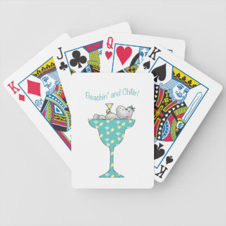 Beachin' and chillin' bicycle playing cards