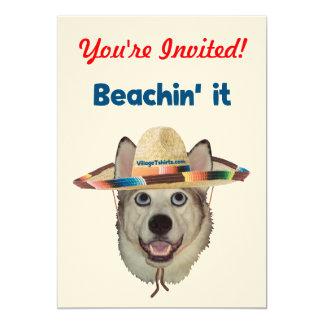 Beachin It Beach Dog Card
