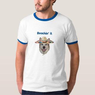 Beachin It Beach Dog T-Shirt
