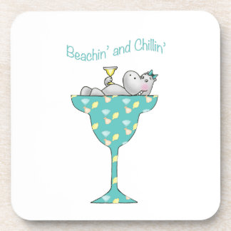 Beachin y chillin posavasos de bebida