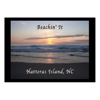 Beaching It on Hatteras Island, NC Business Cards