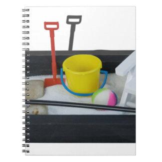 BeachItemsZenGarden011814.png Spiral Notebook