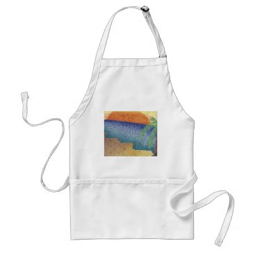 Beach Themed beachmarkerstipple.jpg adult apron