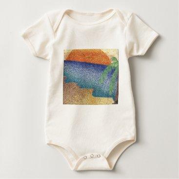 Beach Themed beachmarkerstipple.jpg baby bodysuit