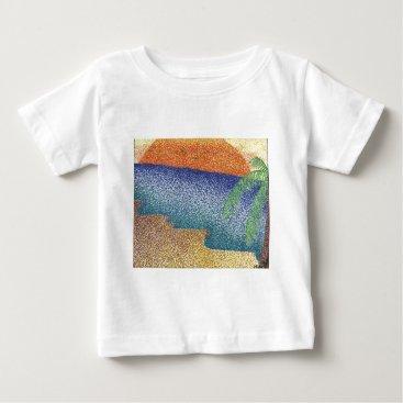 Beach Themed beachmarkerstipple.jpg baby T-Shirt