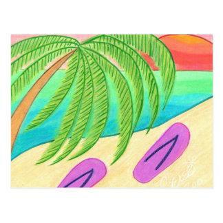 Beach'n Flip Flops Postcard