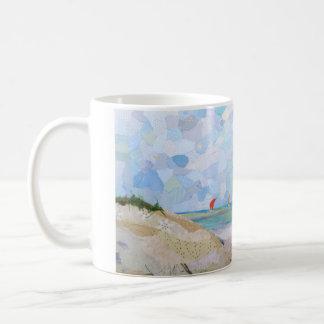 Beachscape collage art coffee mug