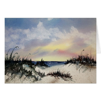 Beachscape Watercolor Art Greeting Card