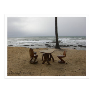 Beachside seating - Customized Postcard