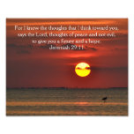 BeachSunset Photo Bible Scripture - Jeremiah 29:11