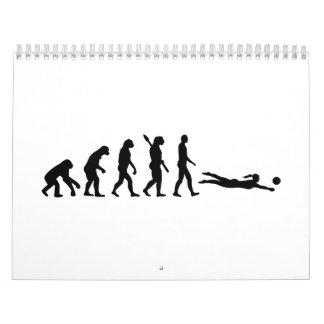 Beachvolleyball de la evolución calendario de pared
