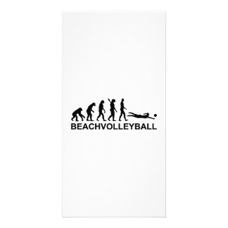 Beachvolleyball de la evolución tarjeta personal