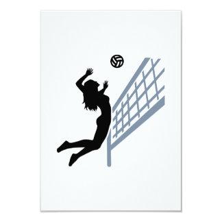 Beachvolleyball girl custom invitations