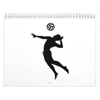 Beachvolleyball player calendar