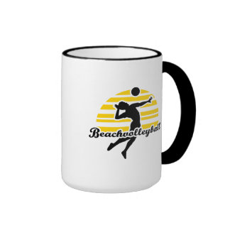 Beachvolleyball player mug