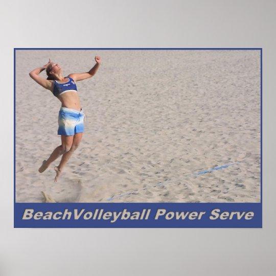 BeachVolleyball Power Serve Poster