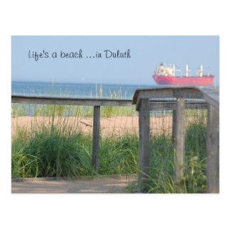 Beachwalk, Life's a beach ...in Duluth Postcard