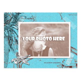 Beachwalker Collage - Turquoise Postcard