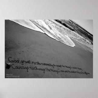 Beachwrite's Serenity Prayer Posters