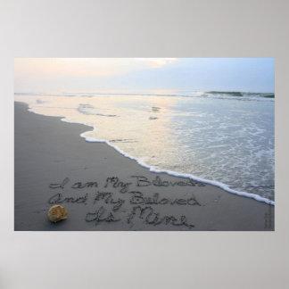 Beachwrite's Song of Solomon 6:3 Horizontal Posters