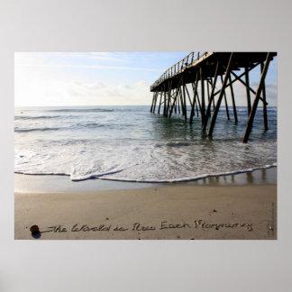 Beachwrite's The World is New Each Morning Print