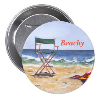 """""""Beachy"""" Button / Pin"""