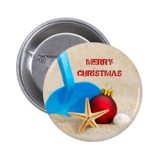 Beachy Christmas Button