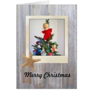 Beachy Christmas Card