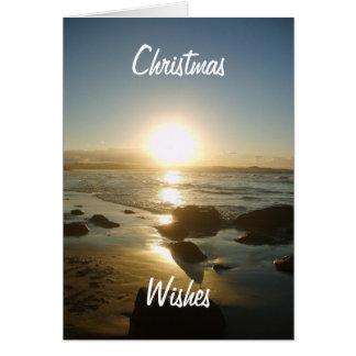 Beachy Christmas Card. Card