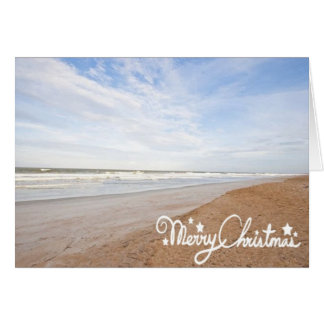 BEACHY CHRISTMAS GREETINGS FROM OUR BEACH GREETING CARD