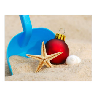 Beachy Christmas Postcard