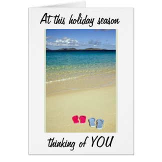 BEACHY CHRISTMAS/SUNNY NEW YEAR WISHES TO YOU CARD