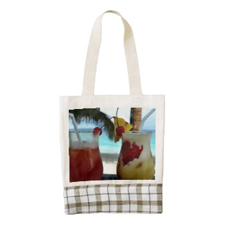 Beachy Cocktails Zazzle HEART Tote Bag