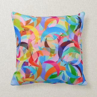 Beachy Crescent Design on Throw Pillow