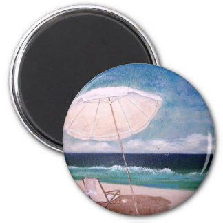 Beachy Day 2 Inch Round Magnet