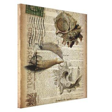 CHICELEGANT beachy dictionary print modern vintage seashell
