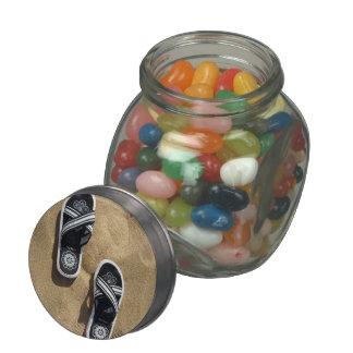 Beachy Flip Flops Glass Jar