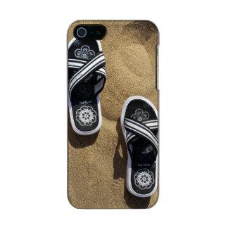 Beachy Flip Flops Metallic Phone Case For iPhone SE/5/5s