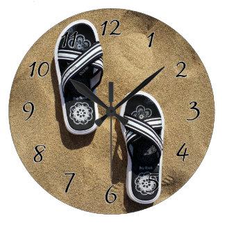 Beachy Flip Flops Wall Clocks