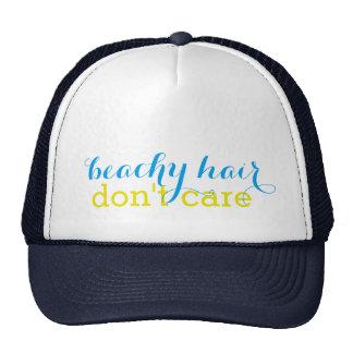 Beachy Hair Don't Care Women's Trucker Hat