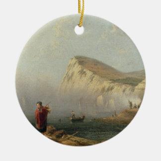 Beachy Head, 1850 (oil on canvas) Ceramic Ornament