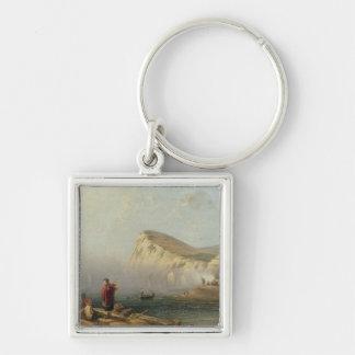 Beachy Head, 1850 (oil on canvas) Key Chain