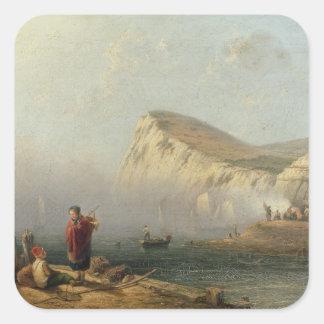 Beachy Head, 1850 (oil on canvas) Square Sticker