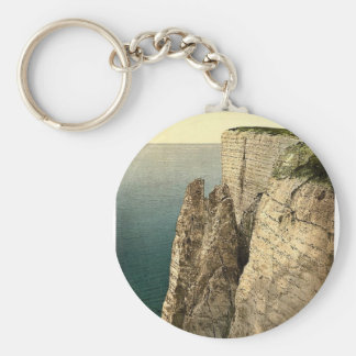 Beachy Head from above, Eastbourne, England rare P Key Chains