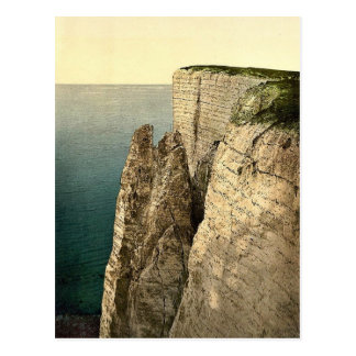 Beachy Head from above, Eastbourne, England rare P Post Card