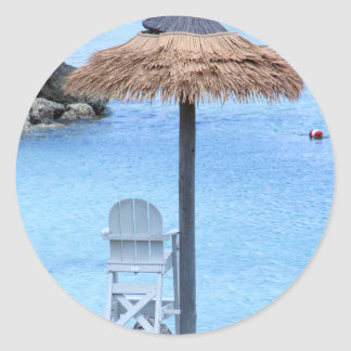 Beachy Invitation sticker