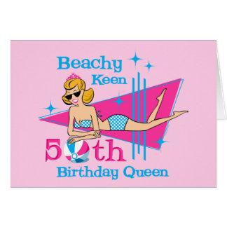 Beachy Keen 50th Birthday Greeting Card