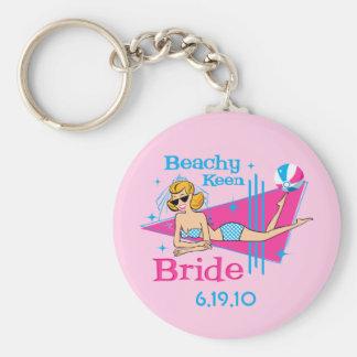 Beachy Keen Bride Custom Keychains