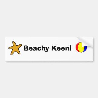 Beachy Keen! Car Bumper Sticker